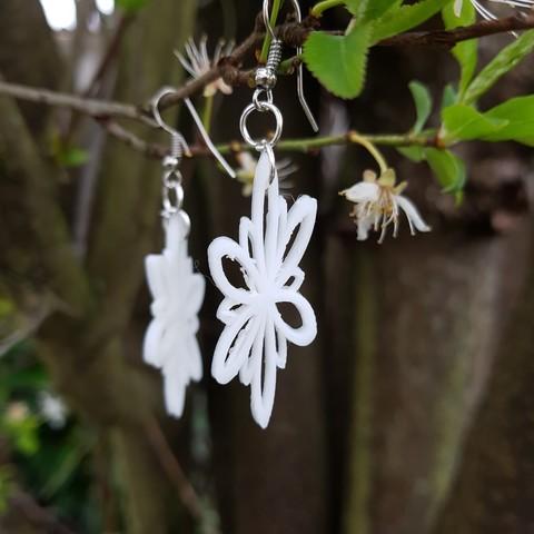 20180323_152848.jpg Download STL file flower earrings • 3D printer design, catf3d