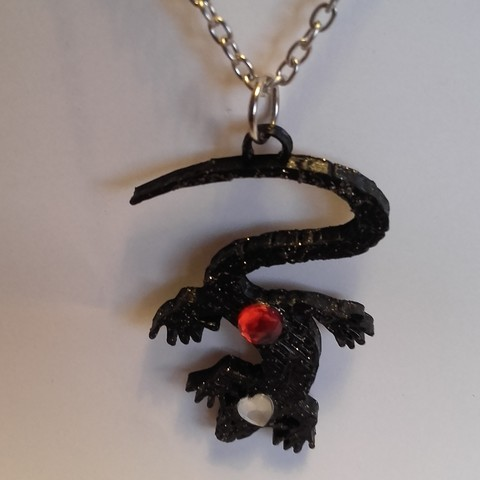 Modelos 3D colgante de lagarto, catf3d