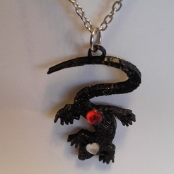 STL files Lizard pendant, catf3d