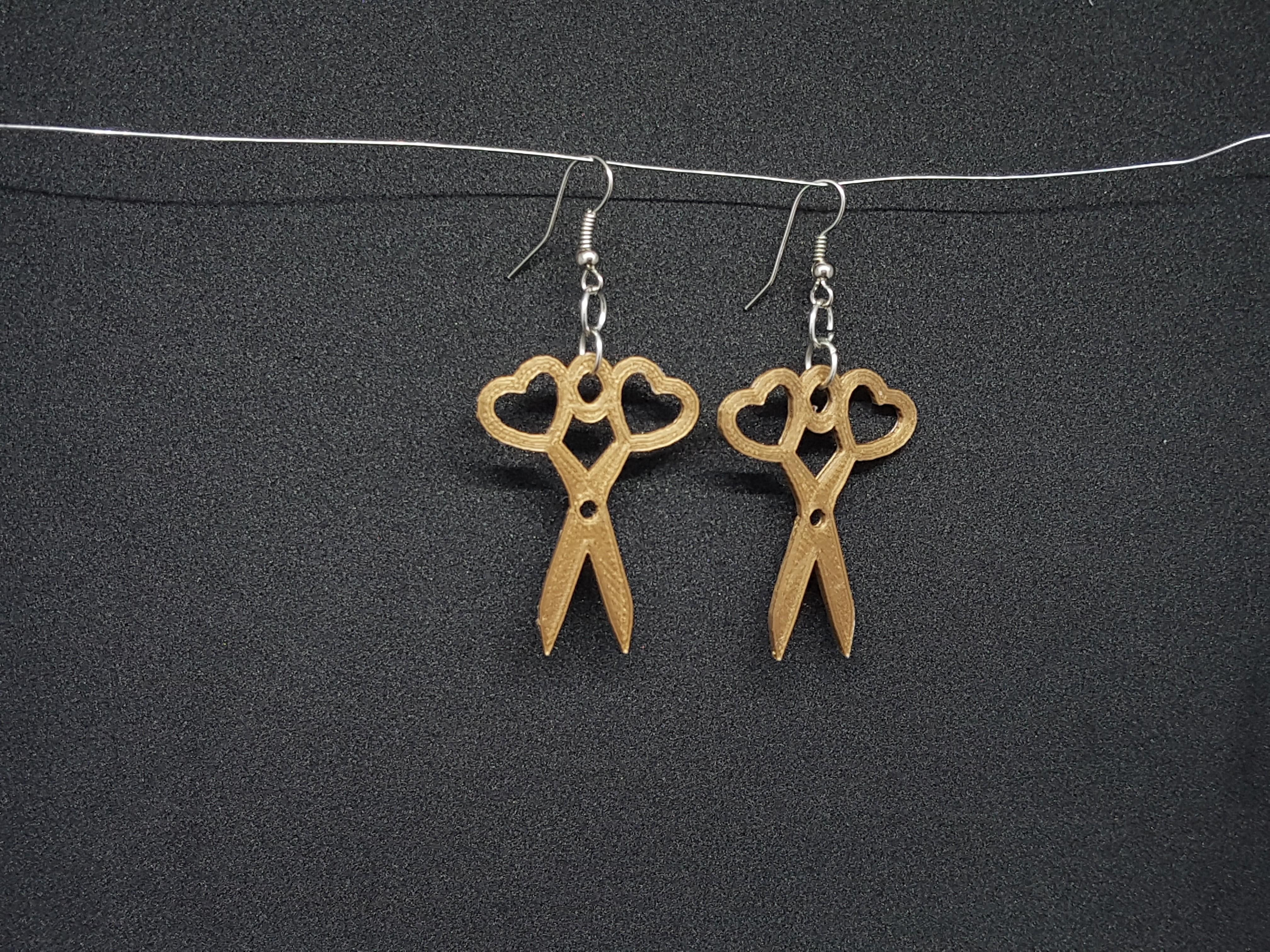 20180821_163529.jpg Download STL file earring and scissors pendant • 3D printing model, catf3d