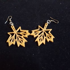 3d printer designs maple earring, catf3d