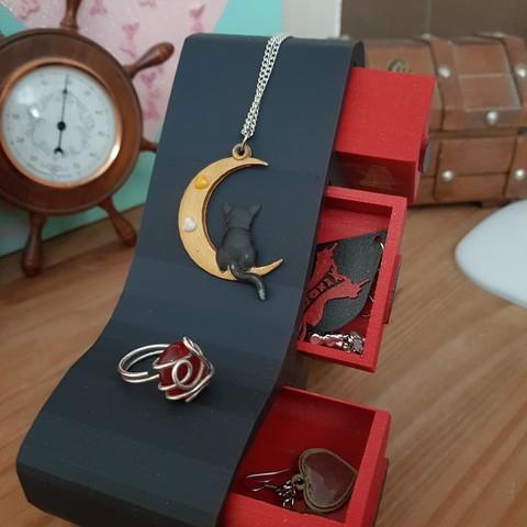 "Download 3D printing models jewelry box ""heel shoe"", catf3d"