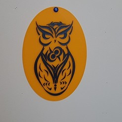 "3D print model very nice ""owl"" painting:-), catf3d"