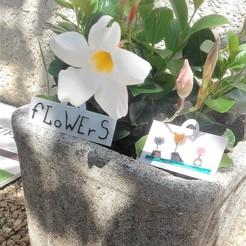 Fichier STL pancarte flowers, catf3d