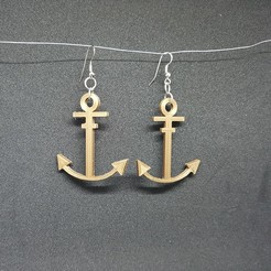 3D printer models earring marine anchor, catf3d