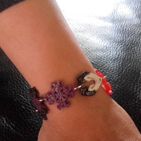 3D print model Bracelets with different pendants, catf3d
