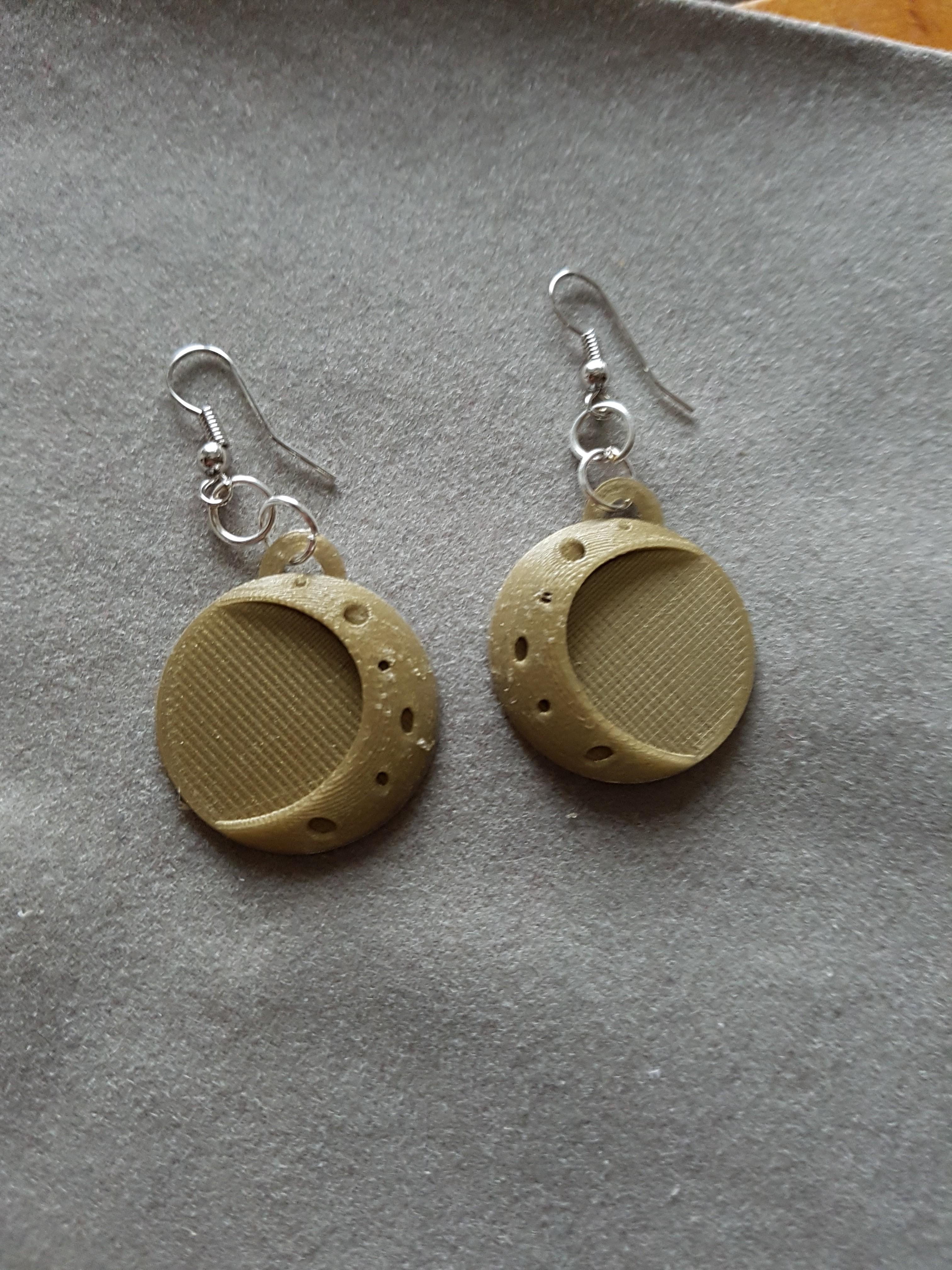 20180203_155053.jpg Download STL file 2 moon earrings • Template to 3D print, catf3d