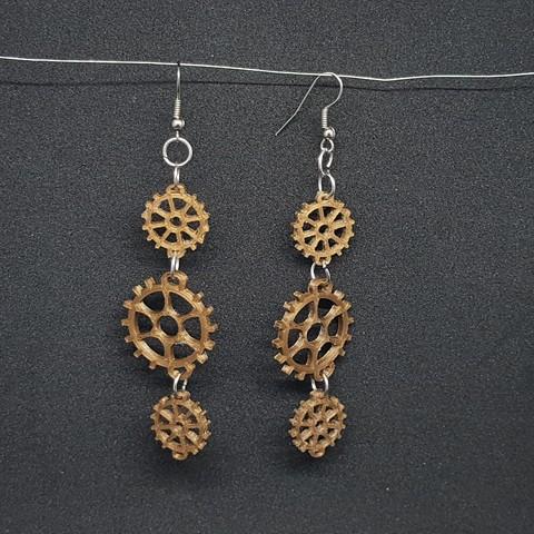 3D printer models gear earring, catf3d