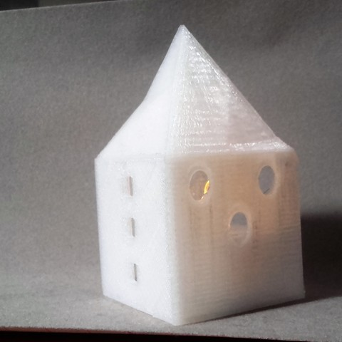 Download 3D printer templates Small illuminated house, catf3d