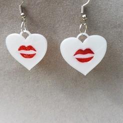 3D print model Earring and pendant, catf3d