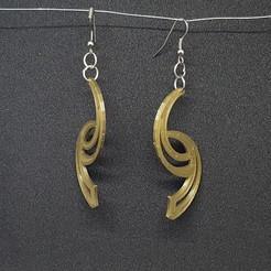 3d printer files curved earrings, catf3d