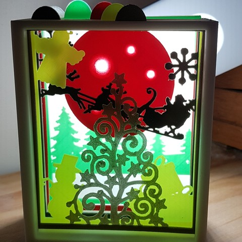 Download 3D printing designs Christmas setting city and countryside, catf3d