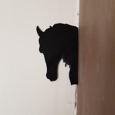 Archivos STL gratis sombra de 2 caballos y un perro, catf3d