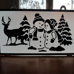STL painting snowman in love, catf3d