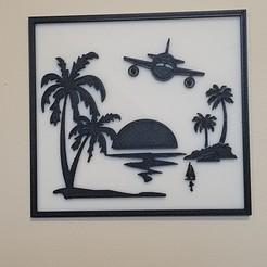 Fichier impression 3D tableau des îles , catf3d