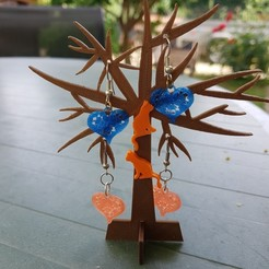 Fichier 3D mini stand arbre bijoux, catf3d