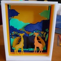 3d print files savannah setting, catf3d