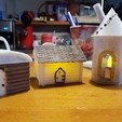 3D printer models LOG HOUSE (BOX AND PHOTOPHORE AND CHRISTMAS BALL), catf3d