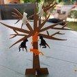 STL file mini stand tree jewelry tree, catf3d