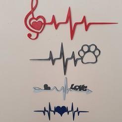 Télécharger fichier STL le battement de mon cœur 2 = 4 lignes de vie • Objet pour impression 3D, catf3d