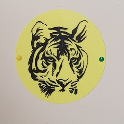Download STL tiger painting, catf3d