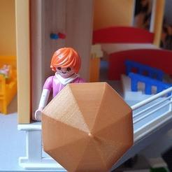 Descargar modelo 3D paraguas y pendientes de paraguas para playmobil, catf3d