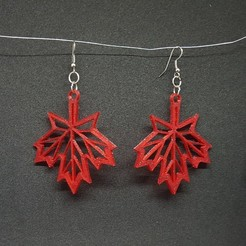 Download STL maple earring, catf3d