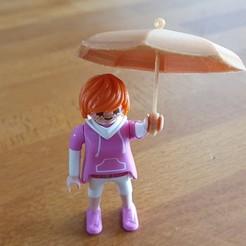 Télécharger fichier 3D boucle d'oreille parapluies et parapluie pour playmobil, catf3d