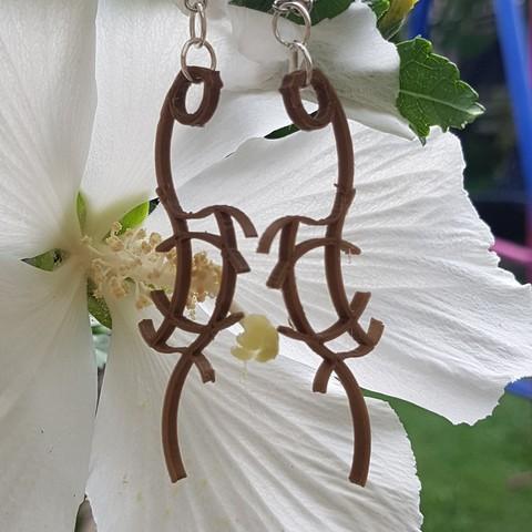 stl Alien earring, catf3d