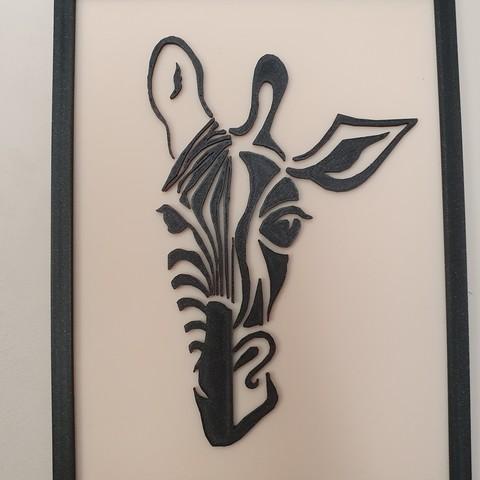 Download 3D printing designs frame half giraffe half zebra, catf3d
