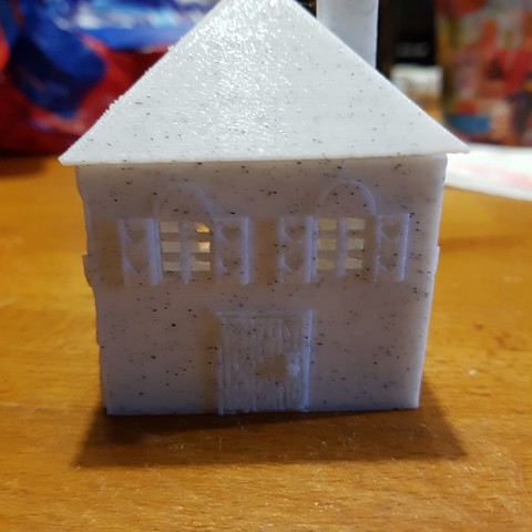 3D print model house (box and tealight holder and Christmas ball), catf3d