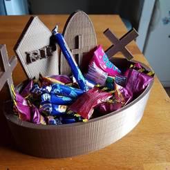 Fichier imprimante 3D boite à bonbon pour Halloween, catf3d