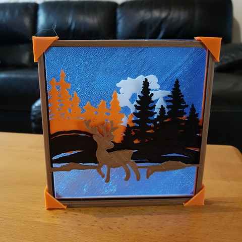 "Modelos 3D para imprimir mesa en relieve ""bosque""., catf3d"