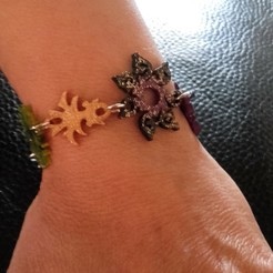 Télécharger objet 3D bracelet (19 pendentifs), catf3d