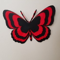 Descargar modelo 3D mariposas en relieve, catf3d