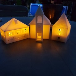stl file ILLUMINATED CHURCH, catf3d