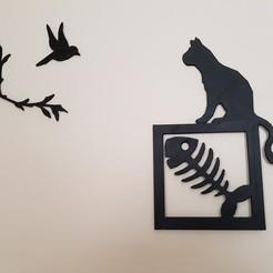 Fichier imprimante 3D tableaux  chats, catf3d