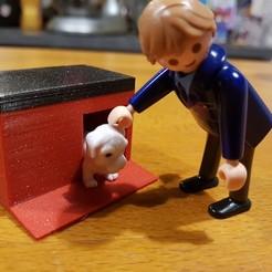 Diseños 3D gratis casita para perro, catf3d