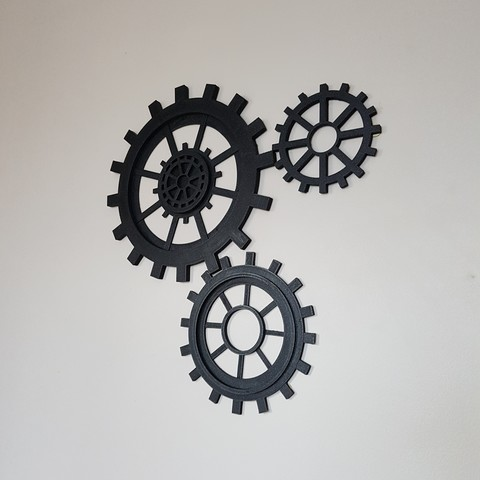 3D printer models gear decoration, catf3d