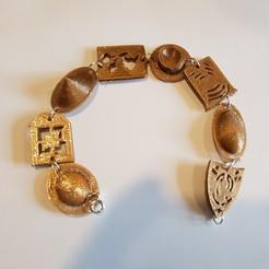 BRACELET 8 pendants STL file, catf3d