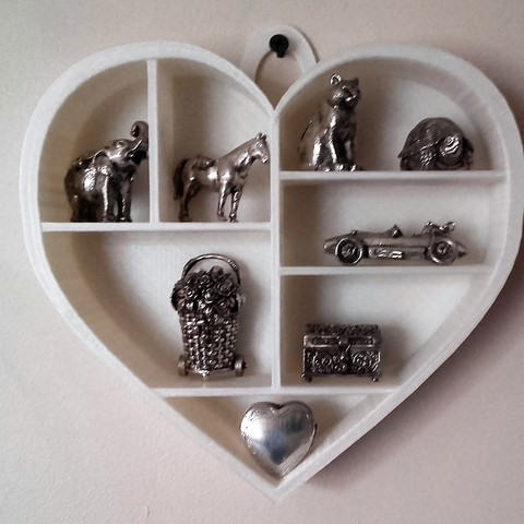 Download 3D printing files Heart shelf, catf3d