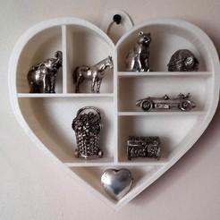 Plan imprimante 3D ÉTAGÈRE  cœur, catf3d