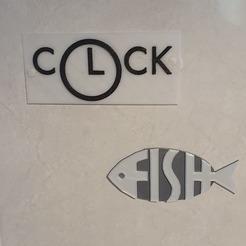Download 3D model decoration kitchen : clock, fish, I'm the chef, catf3d
