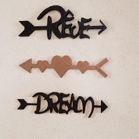 """STL """"dream, dream and hearts"""" arrows, catf3d"""