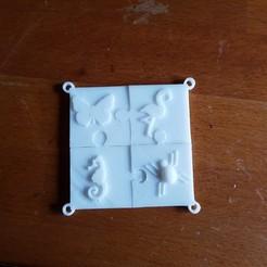 Imprimir en 3D llavero de rompecabezas, catf3d