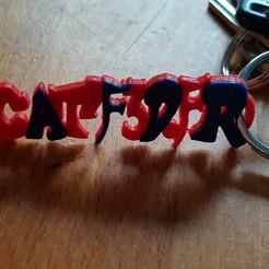 """Free 3D model key ring """"catf3d.fr"""", catf3d"""