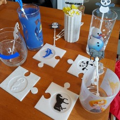 3d printer designs PUZZLE BELOW ANIMAL GLASSES, catf3d