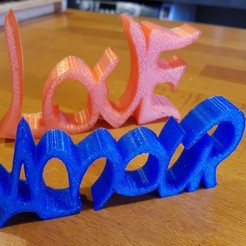 3D printing model LETTERS DECORATION, catf3d