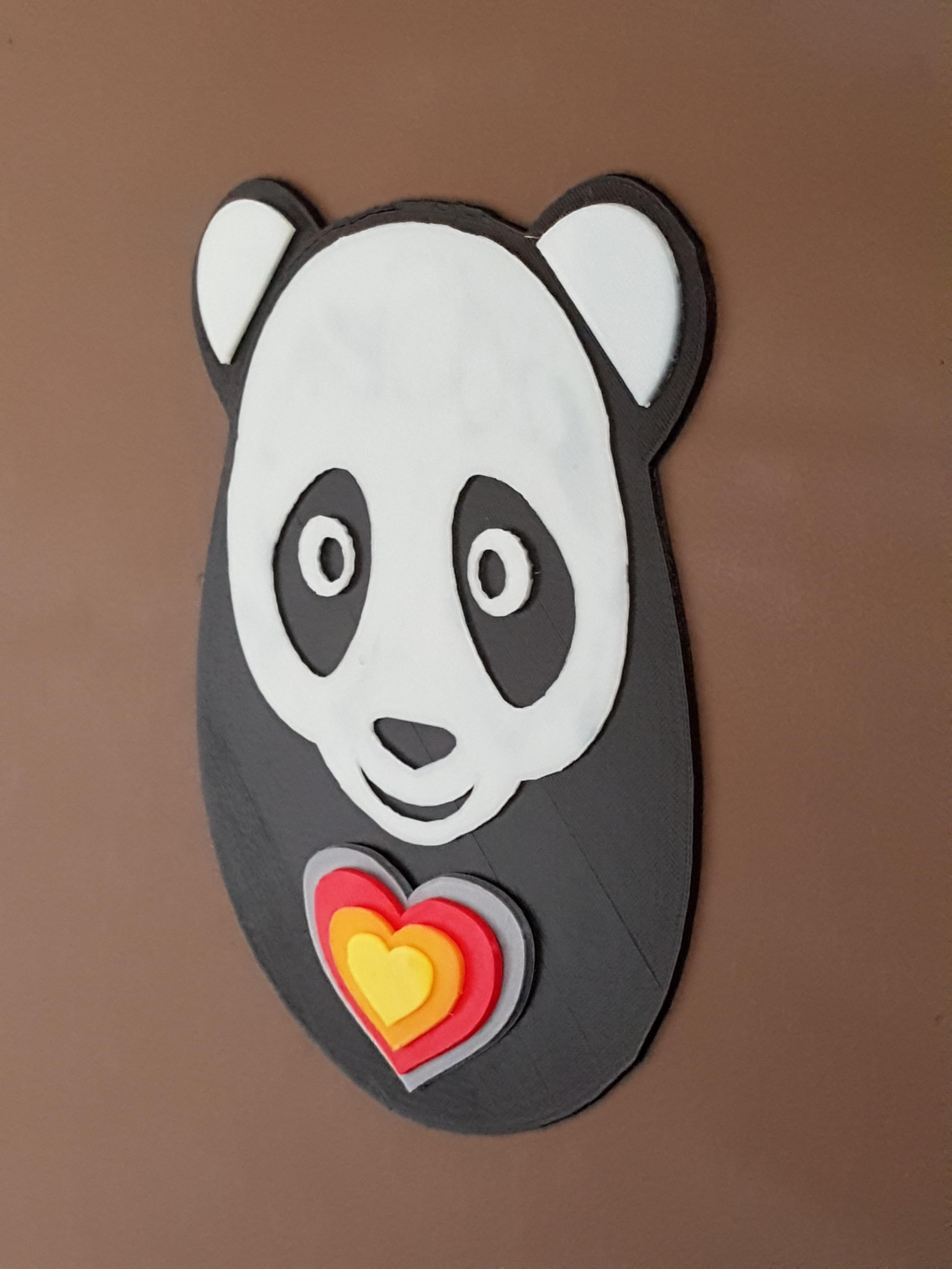 20170804_101229.jpg Download STL file panda hearts decoration • 3D printer template, catf3d