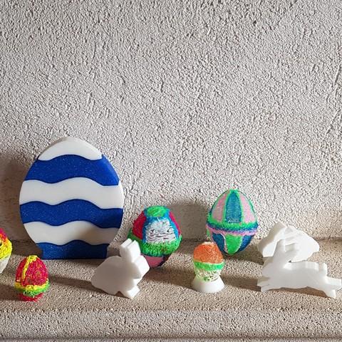 20180401_100743.jpg Télécharger fichier STL gratuit œufs de Pâques multicolore • Modèle pour imprimante 3D, catf3d